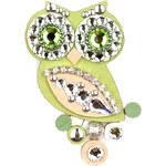 Sovičky Malá soví brož svěží zelená
