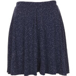 Topshop Navy Neppy Skater Skirt