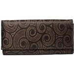Peněženka dámská textilní, hnědá, T230 {name}