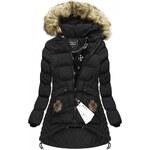 SPEED.A Prošívaná bunda s kapucí černá(W811)