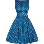 Šaty Lady V London Niagra Blue Polka Tea