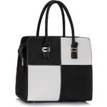 LS fashion LS dámská kabelka quatro 289 černo-bílá