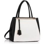 LS fashion LS dámská kabelka elegantní LS0030 černo-bílá