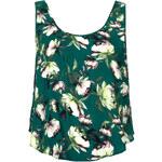 Topshop Crinkle Flower Split Back Vest