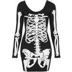 Topshop Skeleton Dress By Tee And Cake