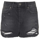 Topshop MOTO Ripped Denim Hotpants