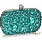 LS Fashion společenská kabelka LS0210 azurová