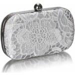 LS Fashion společenská kabelka LS0110 bílá