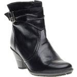 Baťa Kožená kotníčková obuv na zkoseném podpatku