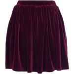 Topshop Burgundy Velvet Skater Skirt
