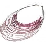 Manumit PURPLE&GREY náhrdelník s drobnými korálky fialová