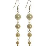 dlouhé fairtrade perlové náušnice Manumit