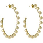 Kruhové perlové fairtrade náušnice Manumit