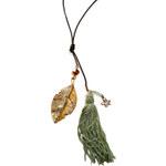 Lotusfeet Fair trade Střapcový náhrdelník - zelená