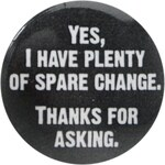 Character Character Button Badge, spare change