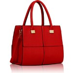 LS Fashion Kabelka LS00153L červená
