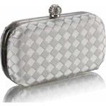 LS Fashion společenská kabelka LS0213 stříbrná