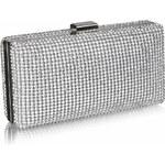 LS Fashion společenská kabelka LS0190 stříbrná
