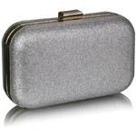 LS Fashion společenská kabelka LS0256 stříbrná