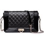 NUCELLE dámská kožená kabelka/psaníčko Clutch černá