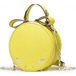 NUCELLE kožená kabelka Sweet Girl žlutá