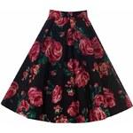 LADY VINTAGE Dámská sukně Jive růžová růže