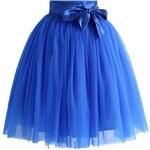 CHICWISH Dámská sukně Tutu Amore modrá s mašlí