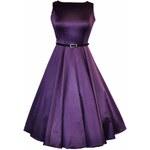 Lady Vintage RETRO DÁMSKÉ ŠATY Cadbury Purple