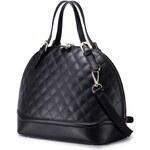 NUCELLE dámská kožená kabelka Shell černá