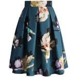 CHICWISH Dámská sukně Midi Květinová iluze