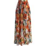 CHICWISH Dámská sukně Maxi Pomerančový květ
