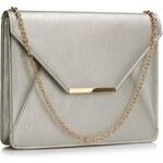 LS Fashion společenská kabelka LS0307 stříbrná