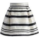 CHICWISH Dámská sukně Mini s proužky
