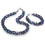 JwL Jewellery Set náhrdelník s náramkem modrý JL0075