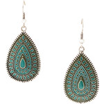 Esprit metal teardrop earrings