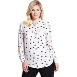 Marks and Spencer Plus No Peep™ Twin Pockets Heart Print Blouse
