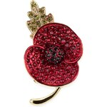 Marks and Spencer M&S Collection Small Pave Diamanté Poppy Brooch