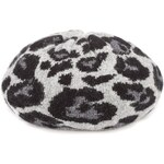 Marks and Spencer M&S Collection Leopard Print Knitted Beret Hat with Angora