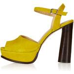 Topshop LOGAN Flared Heel Platforms