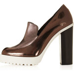 Topshop SWEET Platform Cleated Loafers