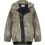 Topshop **Shearling Seam Bomber Jacket by Unique