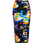 Topshop Tropical Print Tube Skirt
