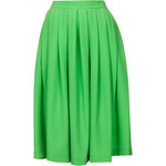 Topshop Green Full Midi Skirt