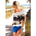 Saténové triko AJC s módním fotopotiskem (vel.38 skladem) 38 bílá Dopravné zdarma!