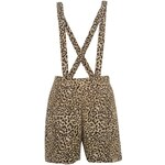 Miso All Over Print Dungaree Shorts Ladies Animal 8 (XS)