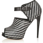 Topshop GEISHA Woven Shoe Boots