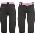 Voodoo Dolls Belted Crop Pants Ladies Black 8 (XS)