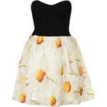 Topshop **Daisy Print Bandeau Sweetheart Prom Dress by Rare