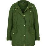 Topshop Hooded Short Parka Jacket