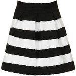 Topshop **Stripe Textured Prom Skirt by Rare